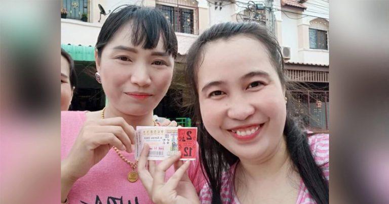 สาวโรงงานอมตะเฮง ถูกที่ 1 รับ 12 ล้าน มาขายถึงบ้าน เจ้าตัวของดออกสื่อ